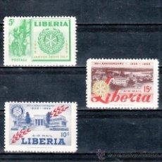 Sellos: LIBERIA 332, A 95/6 SIN CHARNELA, 50º ANIVERSARIO DEL ROTARY INTERNACIONAL, . Lote 24882941