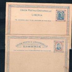 Sellos: LIBERIA .- 2 ENTEROS POSTALES. Lote 33313062