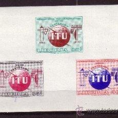 Sellos: LIBERIA 404 HB*** - AÑO 1965 - CENTENARIO DE LA UNION INTERNACIONAL DE TELECOMUNICACIONES. Lote 33493673