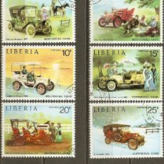 Sellos: LIBERIA YVERT NUM. 617/22 SERIE COMPLETA USADA AUTOMOVILES ANTIGUOS. Lote 38606488