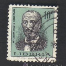 Sellos: SELLO USADO, LIBERIA 10 WILLIAM DAVID COLEMAN. Lote 40853166