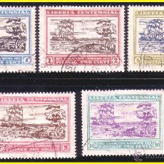 Timbres: LIBERIA 1923 IVERT Nº 194 A 198 (O). Lote 41212002