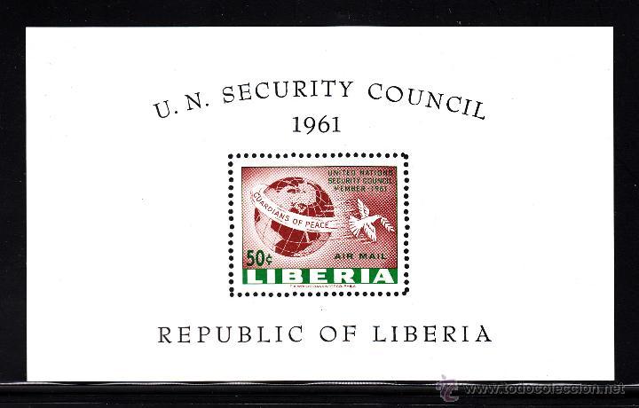 LIBERIA HB 18** - AÑO 1961 - ENTRADA EN EL CONSEJO DE SEGURIDAD DE NACIONES UNIDAS (Sellos - Extranjero - África - Liberia)