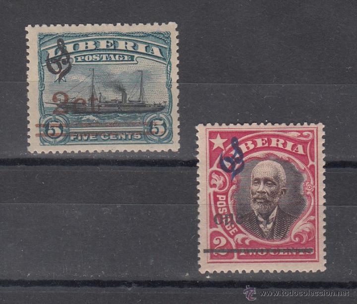 LIBERIA SERVICIO 86A/7A CON CHARNELA, (Sellos - Extranjero - África - Liberia)