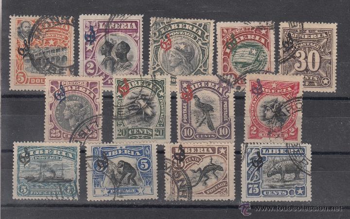 LIBERIA SERVICIO 45/7 USADA, (Sellos - Extranjero - África - Liberia)