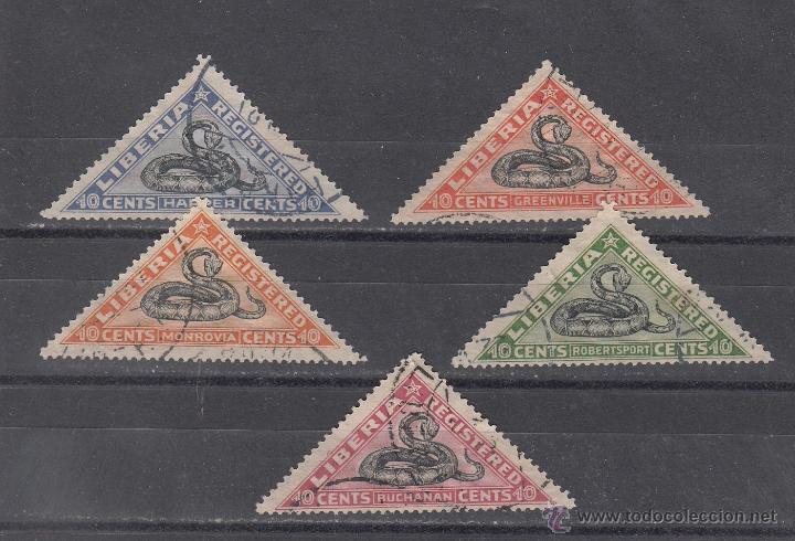 LIBERIA CERTIFICADO 25/9 USADA, (Sellos - Extranjero - África - Liberia)