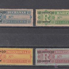 Sellos: LIBERIA CERTIFICADO 6/9 CON CHARNELA, . Lote 43589200