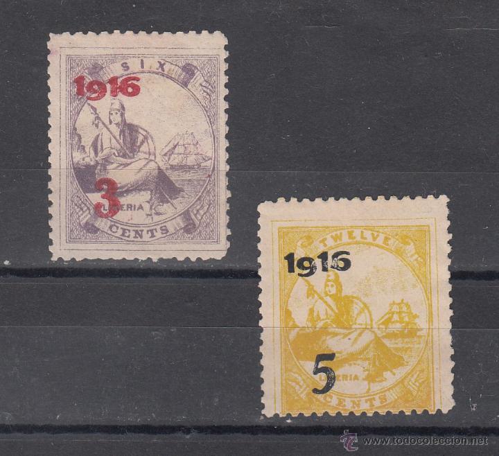 LIBERIA 134A/5A SIN GOMA, (Sellos - Extranjero - África - Liberia)