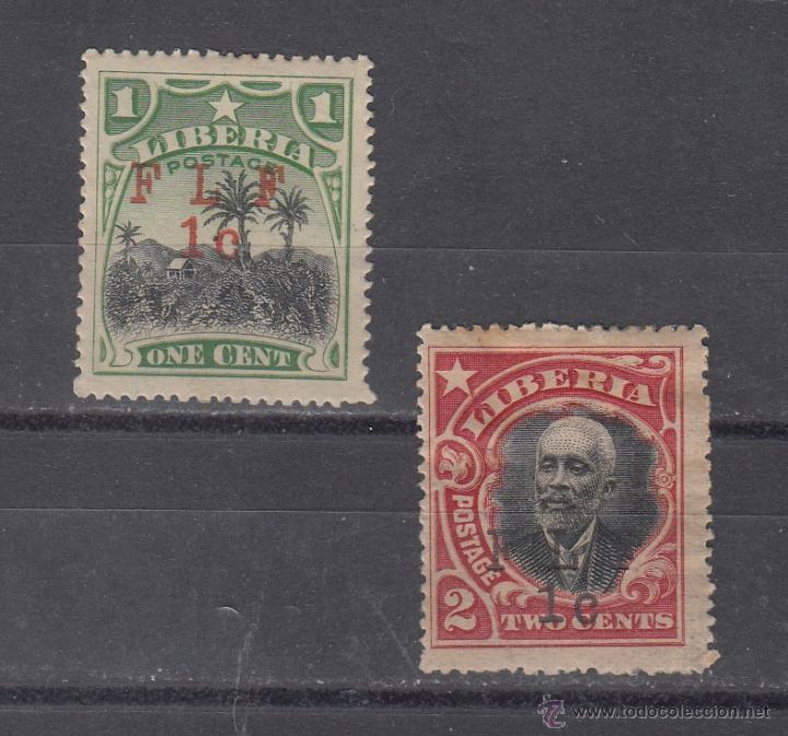 LIBERIA 129CI, 130AI CON CHARNELA, TIPO I F L F (Sellos - Extranjero - África - Liberia)