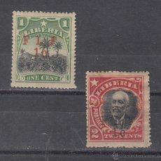 Sellos: LIBERIA 129CI, 130AI CON CHARNELA, TIPO I F L F . Lote 43589359