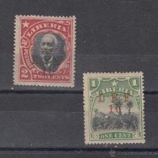 Sellos: LIBERIA 129/30 CON CHARNELA,. Lote 43589370