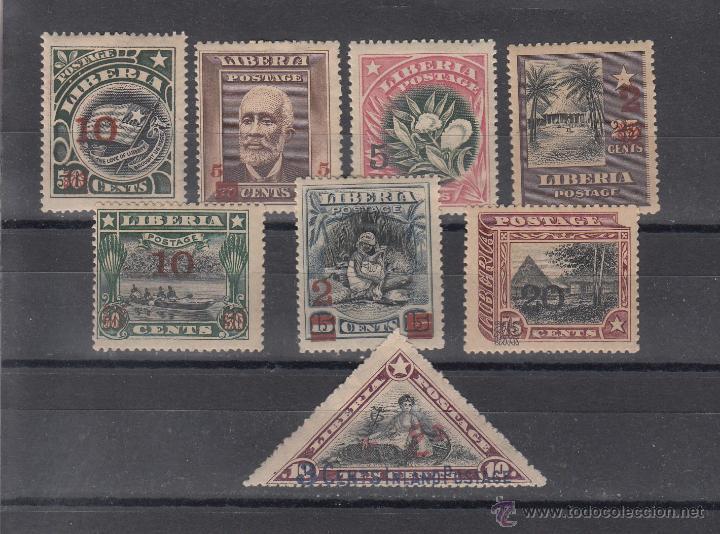 LIBERIA 116/23 CON CHARNELA, (Sellos - Extranjero - África - Liberia)
