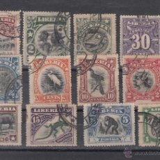 Sellos: LIBERIA 84/93, 95/6 USADA,. Lote 43600343