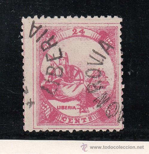 LIBERIA 14 USADA, (Sellos - Extranjero - África - Liberia)