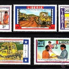 Sellos: LIBERIA 977/81** - AÑO 1984 - DIA NACIONALDE REDENCION. Lote 44863308