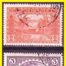 Francobolli: LIBERIA 1915 IVERT Nº 114 Y 115 (O). Lote 48854244