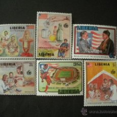 Sellos: LIBERIA 1987 IVERT 1079/84 *** ANIVERSARIOS Y EVENTOS. Lote 53146994