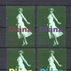 Sellos: LIBERIA 1586/89** - AÑO 1998 - HOMENAJE A DIANA PRINCESA DE GALES. Lote 59190755