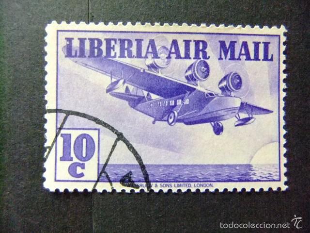 LIBERIA 1938 TRIMOTEUR YVERT Nº PA 12 º FU (Sellos - Extranjero - África - Liberia)