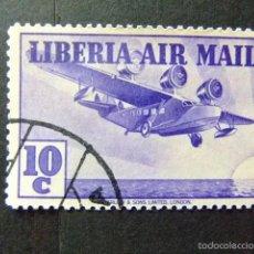 Sellos: LIBERIA 1938 TRIMOTEUR YVERT Nº PA 12 º FU. Lote 60386759