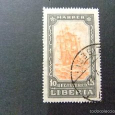 Sellos: LIBERIA 1924 VOILIER HARPER YVERT Nº S 37 º FU. Lote 60393183