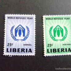 Sellos: LIBERIA 1960 ANNÉE MONDIALE DU RÉFUGIÉ YVERT Nº 366 + PA 120 ** MNH. Lote 60393339