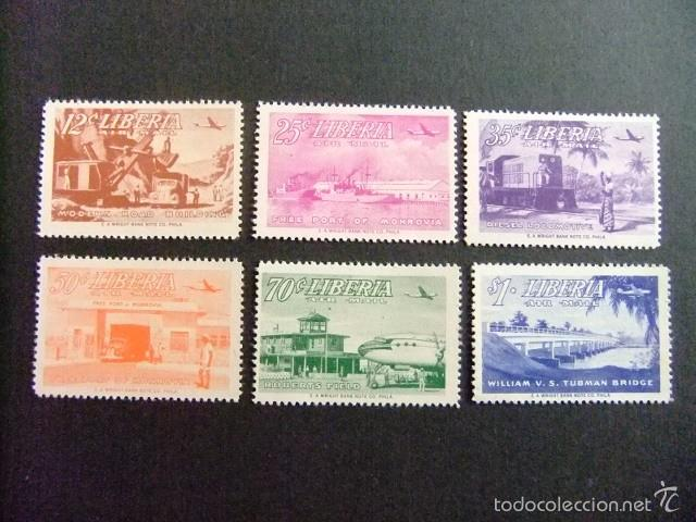 LIBERIA 1953 SUJETS DIVERS YVERT Nº PA 67 / 72 ** MNH (Sellos - Extranjero - África - Liberia)