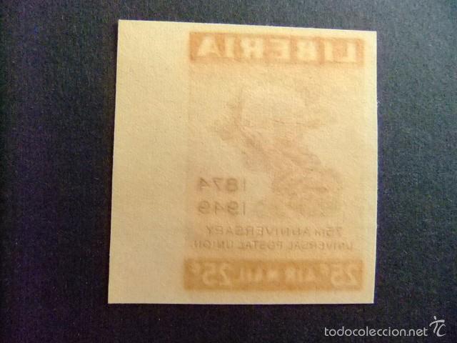 Sellos: LIBERIA 1950 75º Anniversaire de UPU Yvert nº PA 62 ** MNH non dentelé - Foto 2 - 60393351