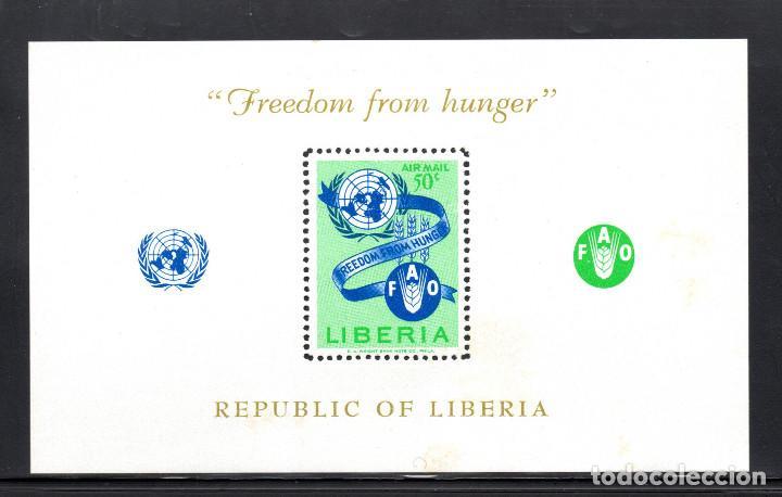 LIBERIA HB 26** - AÑO 1963 - CAMPAÑA MUNDIAL CONTRA EL HAMBRE (Sellos - Extranjero - África - Liberia)