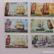Sellos: LIBERIA 1972 ANTIGUOS BARCOS YVERT 579 / 584 º FU. Lote 80786382