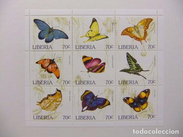 LIBERIA 1996 FAUNA MARIPOSAS PAPILLONS YVERT 1310 / 1318 ** MNH (Sellos - Extranjero - África - Liberia)