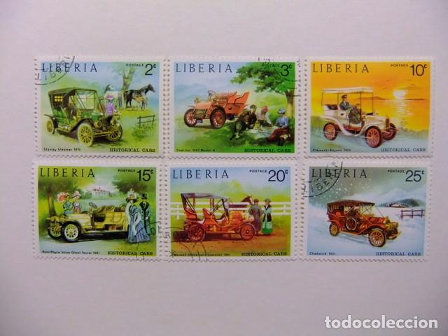 LIBERIA 1973 COCHES ANTIGUOS YVERT 617 / 622 º FU (Sellos - Extranjero - África - Liberia)