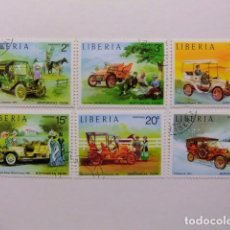 Sellos: LIBERIA 1973 COCHES ANTIGUOS YVERT 617 / 622 º FU. Lote 80787222