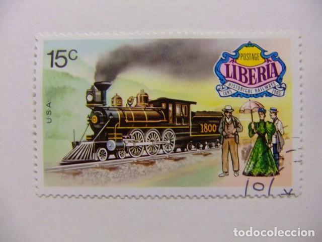 LIBERIA 1973 LOCOMOTORA USA YVERT 602 º FU (Sellos - Extranjero - África - Liberia)