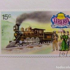 Sellos: LIBERIA 1973 LOCOMOTORA USA YVERT 602 º FU . Lote 80787342