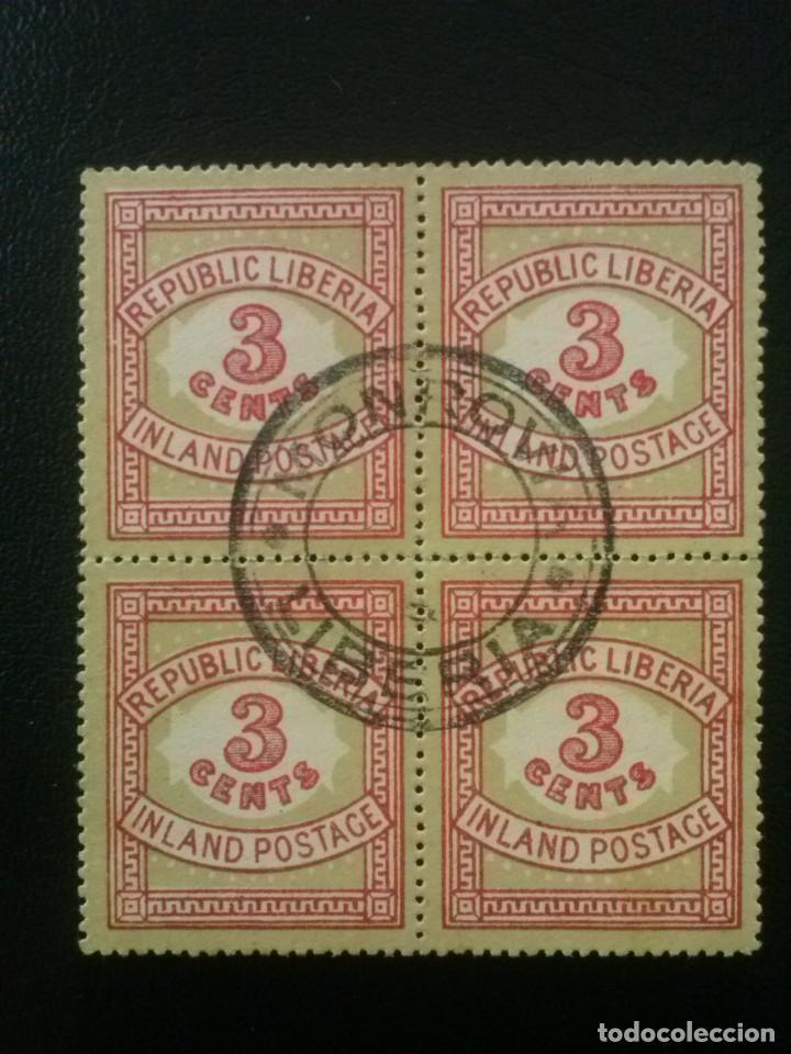 LIBERIA , YVERT Nº 50 BLOQUE DE 4 , 1897 (Sellos - Extranjero - África - Liberia)