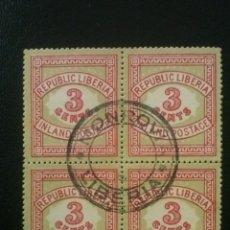 Timbres: LIBERIA , YVERT Nº 50 BLOQUE DE 4 , 1897. Lote 89373612