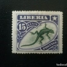 Sellos: LIBERIA , YVERT Nº 88 * CHARNELA, 1906 FAUNA . Lote 89375124