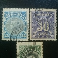 Timbres: LIBERIA , YVERT Nº 90, 91 Y 92 , 1906. Lote 89376084