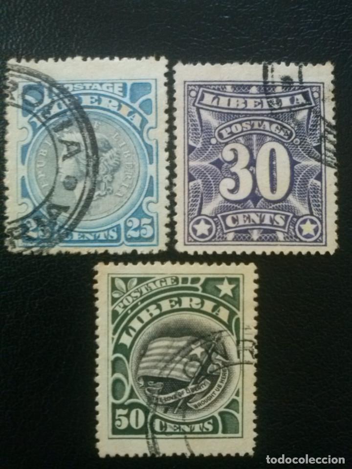 LIBERIA , YVERT Nº 90, 91 Y 92 , 1906 (Sellos - Extranjero - África - Liberia)