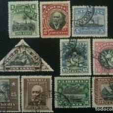 Sellos: LIBERIA , YVERT Nº 97 - 106 (SERIE SIN EL 107) , 1909-12. Lote 89377708