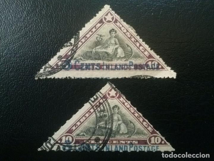 LIBERIA , YVERT Nº 109 + 110 , 1910-12 (Sellos - Extranjero - África - Liberia)