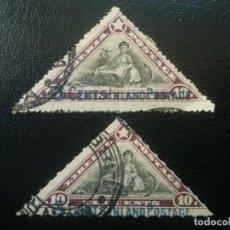 Sellos: LIBERIA , YVERT Nº 109 + 110 , 1910-12. Lote 89378620