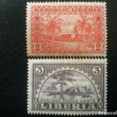 Sellos: LIBERIA , YVERT Nº 114 - 115 * SERIE COMPLETA CON CHARNELA , 1915. Lote 89379656