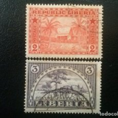 Sellos: LIBERIA , YVERT Nº 114 - 115 SERIE COMPLETA , 1915. Lote 89379912