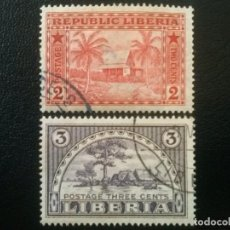 Timbres: LIBERIA , YVERT Nº 114 - 115 SERIE COMPLETA , 1915. Lote 89379960