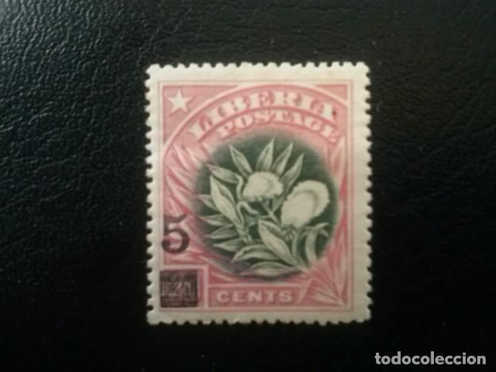 LIBERIA , YVERT Nº 119 * CHARNELA , 1916 FLORA (Sellos - Extranjero - África - Liberia)