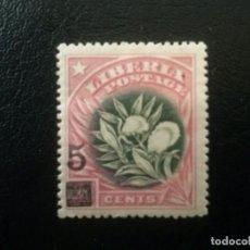 Sellos: LIBERIA , YVERT Nº 119 * CHARNELA , 1916 FLORA. Lote 89380428