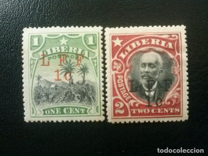 LIBERIA , YVERT Nº 129 - 130 * CHARNELA , 1916 (Sellos - Extranjero - África - Liberia)