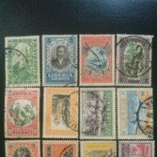 Sellos: LIBERIA , YVERT Nº 168 - 179 SERIE COMPLETA , 1921. Lote 89383556